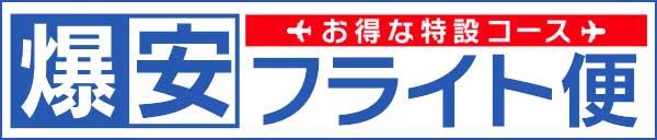 【運行期間期間延長】爆安フライト便