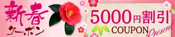 ★超お得!!!新春☆5,000円クーポン進呈★